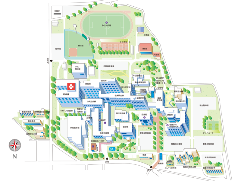 Campus Map UNIVERSITY OF YAMANASHI - Japan map yamanashi