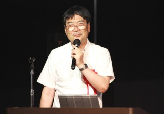 講演する内田センター長