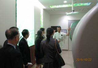 放射線治療センターの視察