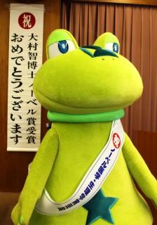 韮崎市のイメージキャラクター「ニーラ」も駆けつけました