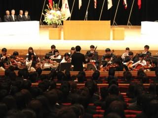 山梨大学医学部交響楽団による記念演奏「ラコッツィ行進曲」