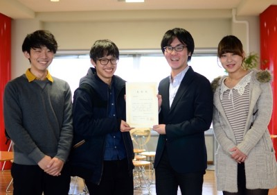 「Create Future山梨」のメンバー 左から南翔伍さん、小島信一郎さん、齋藤浩平さん、仁田春香さん