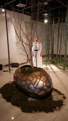 一井氏による即興アカペラパフォーマンス1月30日の様子