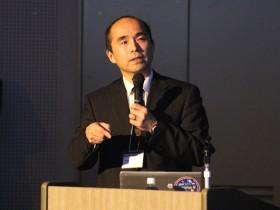 若山発生工学研究センター長による発生工学技術を応用した研究成果ついての講演