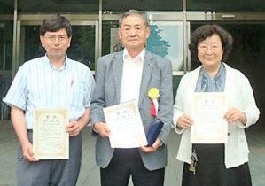 (左より)角田准教授、埋橋さん、鳥養名誉教授