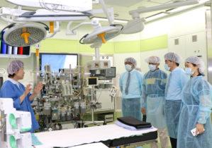 ハイブリッド手術室の視察