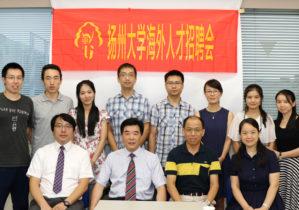 中国からの留学生と記念撮影