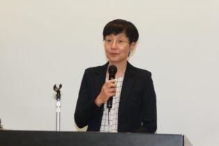 祝辞を述べる後藤理事長